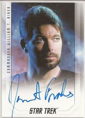 Jonathan Frakes as William Riker Bridge Crew Autograph Card Star Trek Inflexions
