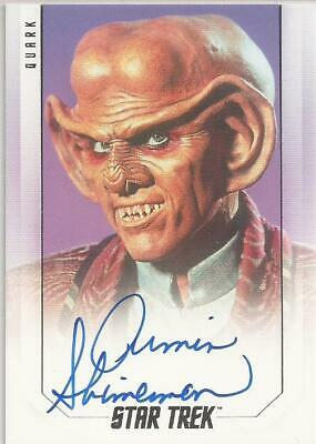 Armin Shimerman as Quark Bridge Crew Autograph Card - Star Trek Inflexions