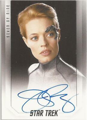 Jeri Ryan as Seven Of Nine Bridge Crew Autograph Card - Star Trek Inflexions