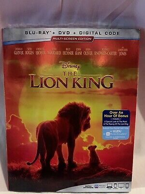 The Lion King, 2019 - Live Action (Blu-Ray + DVD + Digital Code Brand new Sealed