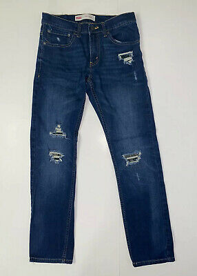 Boy's Youth Levi's 511 Slim Jeans Size 16 Reg 28x28  Distressed Denim w Camo