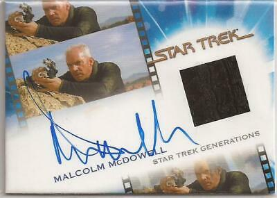 Malcom McDowell as Soran Movies Costume Autograph Card - Star Trek Inflexions