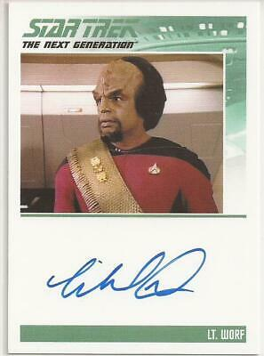 Michael Dorn as Lt. Worf TNG Autograph Card - Star Trek Inflexions