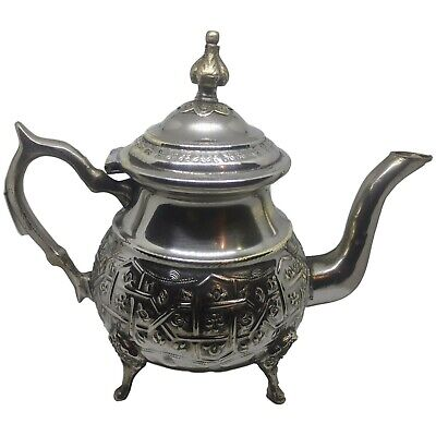 Authentic Moroccan Handmade Engraved teapot silver