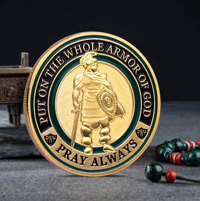 Put on The Whole Armor of God Commemorative Challenge Coin Collection Gift