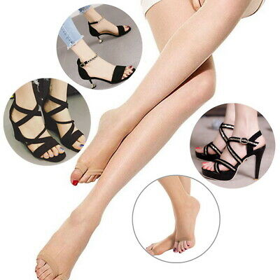Open Toe Sheer To Waist 10 Denier Summer Pantyhose Le Bourget Toeless Tights