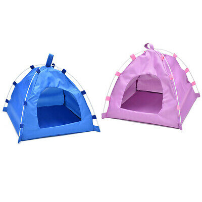 Folding Pet Tent House Dog Cat Puppy Playing Mat Waterproof Kennel Bed Oxford UK