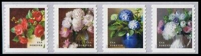 2017 US Stamp- Flowers from the Garden- Forever Coil Strip of 4- Scott 5233-5236