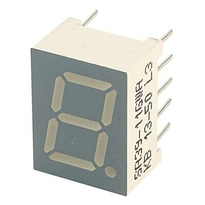 5x Kingbright SA39-11GWA 9.9mm Green LED Display Anode