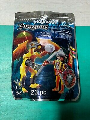 Playmobil Set Knight And Dragon Figures 5462 23 Pieces Brand New