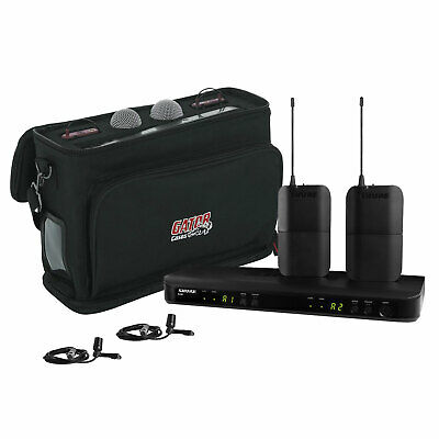 Shure BLX188/CVL Dual Channel Lavalier Wireless System - J10 with Carry Bag