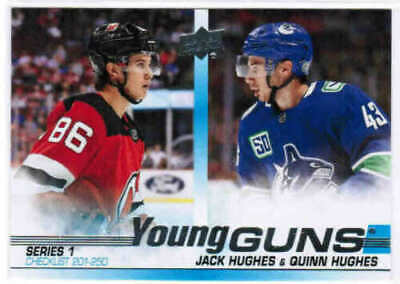 2019-20 Ud Series 1 Hockey Young Guns Rookie Cards (#201-250) U Pick From List