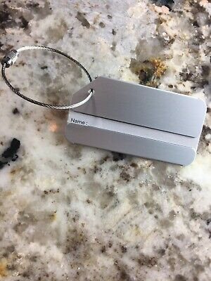 Lot6 Travel Luggage Tag Metal- Suitcase Baggage Bag Office Name Address ID Label