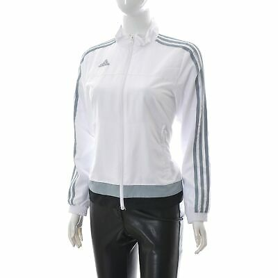 Adidas Girl Tracksuit gymnastics Jumpsuit Sportswear Jacket Size UK-12/12 white
