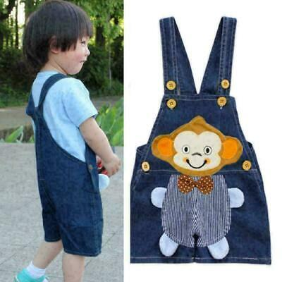 Infant Baby Boy Clothes Clothing Jeans Pants Kid Trousers Overalls Denim Sh R5F2