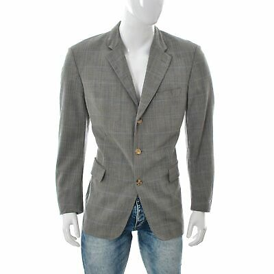 Hugo Boss Angelico Mens Casual Blazer Suit Size 52 Grey Check top Jacket Genuine