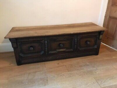 Antique dressing bench: cupboard/ chest of draws