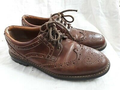 Marks & Spencer Boys UK Size 8.5 Brown formal office work Brogues Leather Shoes