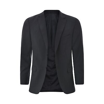 Z Zegna Mens Suit jacket Single Breasted blazer Size 52R Black Wool Authentic