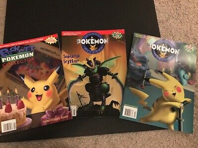 2000 Beckett Pokemon Collector 3 Issues; Vintage, Great Condition