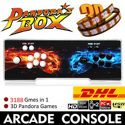 Pandora's Box 3188 Game in 1 Retro Video Games Double Stick 2D&3D Arcade Console