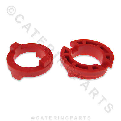 Pizza Group 4203250 Dough Roller Parts 2 Piece Coupling Set Nylon Boss Gear