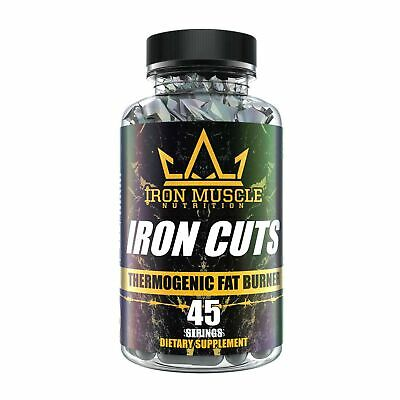 Iron Cuts fat Burner Capsules - Thermogenic Fat Burner for Men and Women High...