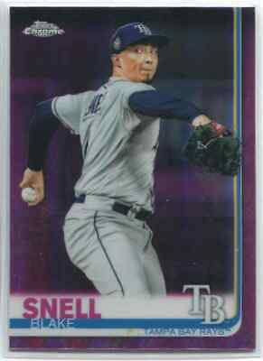 Blake Snell 2019 Topps Chrome Pink Refractor Tampa Bay Rays