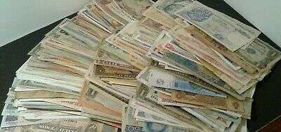 Lot (420 ) Vintage / Antique Foreign World Currency Bank notes Many Countries!!!