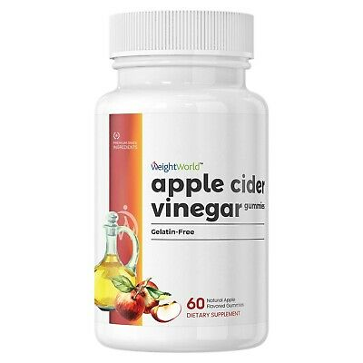 WeightWorld Apple Cider Vinegar Gummies – with Ginger Dry Extract - Natural S...