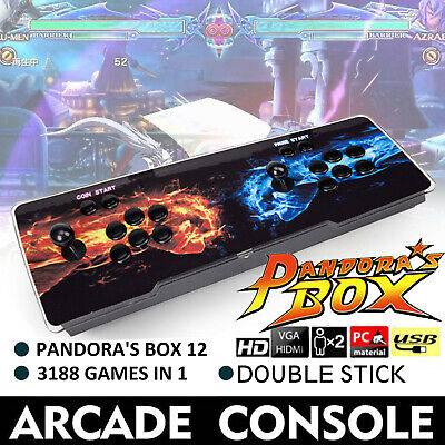HOT Selling Pandora Box 12S 3188 Games in 1 Video Double Stick 3D Arcade Console
