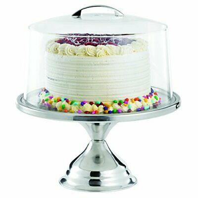 """TableCraft Products 821422 Cake Stand & Cover Set, 12.75"""" Dia x 13.75"""" H"""