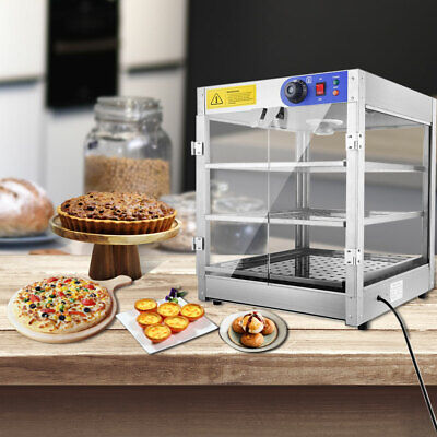 3 Tier Commercial Food Pie Warmer Hot Display Stainless Steel Pizza Case Cabinet
