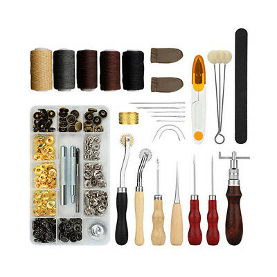 28 Pcs Leather Sewing Tools Beveler Punch DIY Craft Hand Stitching Carving Set