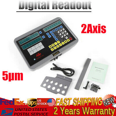 2 Axis GCS900-2D Digital Readout Dro For Milling Lathe Machine LCD Display