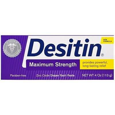 Desitin  Diaper Rash Paste   Maximum Strength  4 oz  113 g