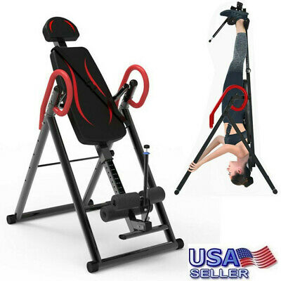 Foldable 2019 Premium Gravity Inversion Table Back Therapy Fitness Reflexology❤️