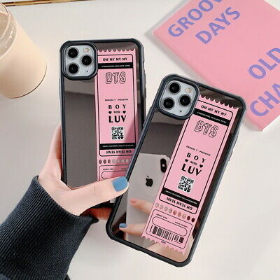 For iPhone 11 Pro Max XS XR 8 7 Mirror Label Shockproof Hybrid Phone Case Cover