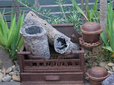 Antique vintage Fire Grill Setting..garden decoration.