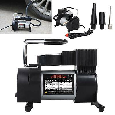 HEAVY DUTY 12V ELECTRIC CAR TYRE INFLATOR 100PSI AIR COMPRESSOR PUMP PORTABLE EO