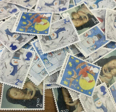 600 X 2nd Class Unfranked Off Paper No Gum Postage Stamps - FV £366