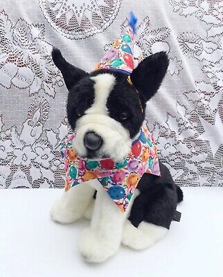 "Birthday Boston Terrier Classic Aurora Large 13"" Unused With Tags"