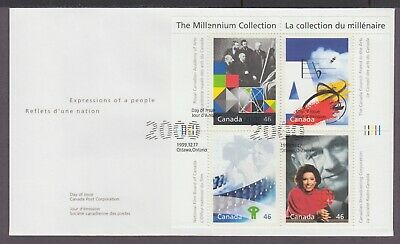 CANADA FDC 1821a-d THE MILLENNIUM COLLECTION, 4 - FOSTERING CANADIAN TALENT