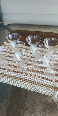 Vintage Crystal Dessert Bowls Set Of 8 Glass Dishes Ice Cream - LOOK!!!@