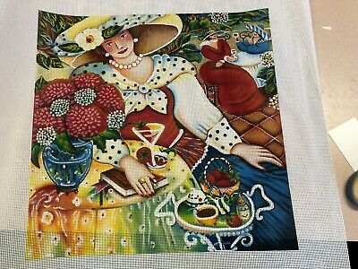 needlepoint canvas  CH   M. SHIRLEY SALE   LADY RESTING
