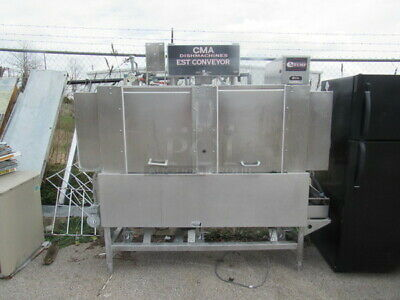 CMA E Temp Conveyor Dishwasher. Model# EST-66. 208-230 Volt 3 Phase 82X34X76