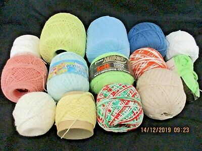 ~MILFORD/OTHER CROCHET COTTON x 14 NEW & PARTIAL BALLS~