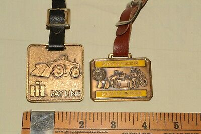 Vintage IH HARVESTER PAYLINE Watch/Key FOB LOT Frank Hough PAY-LOADER Paydozer
