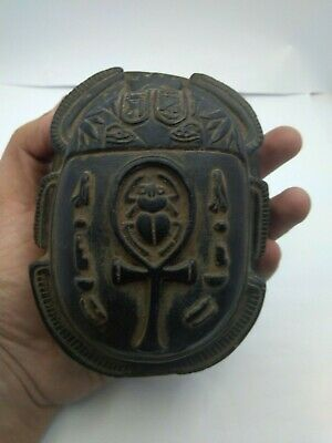 RARE ANCIENT EGYPTIAN ANTIQUE SCARAB Carved Stone 1798-1569 BC (9)