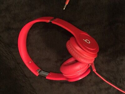 Beats by Dr. Dre Solo Headband Headphones - Red With Wire!